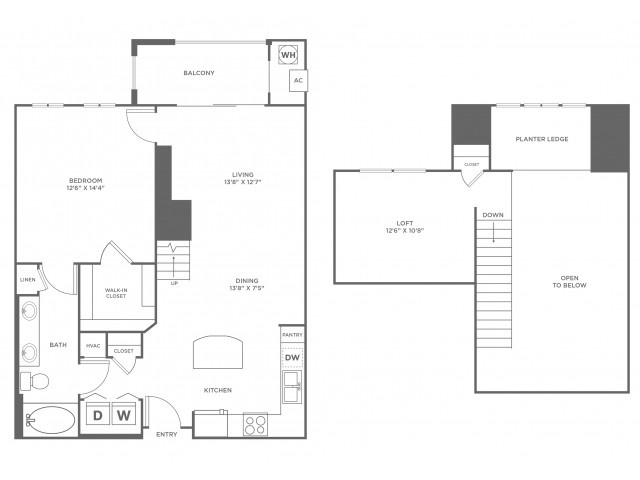 Serendipity Loft with Sunroom | 1 bed 1 bath | from 1066 square feet