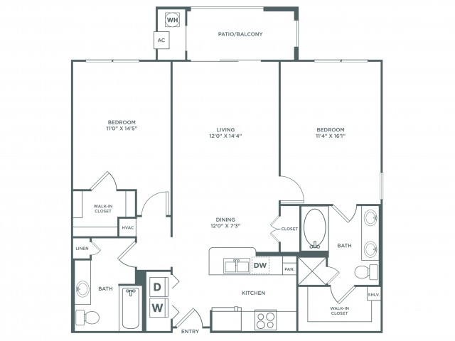 Suitability with Sunroom | 2 bed 2 bath | from 1190 square feet