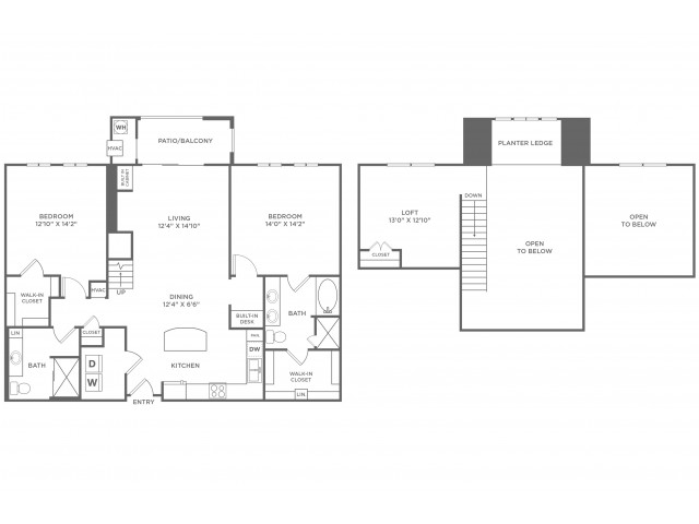 Reality Loft with Sunroom | 2 bed 2 bath | from 1607 square feet