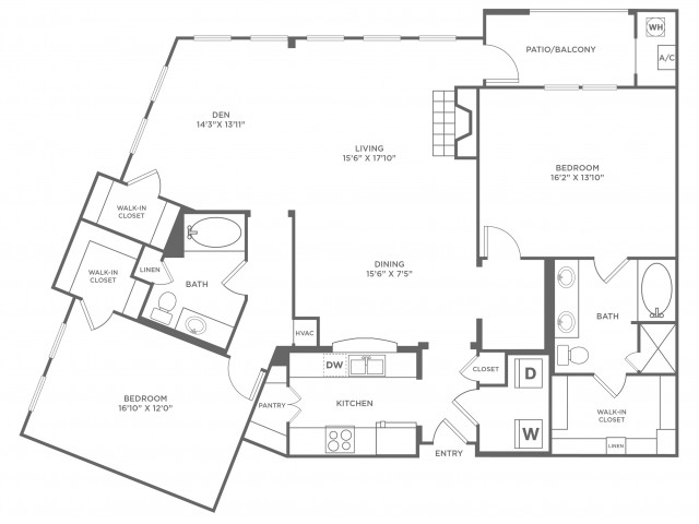 Creativity with Loft | 2 bed 2 bath | from 1857 square feet
