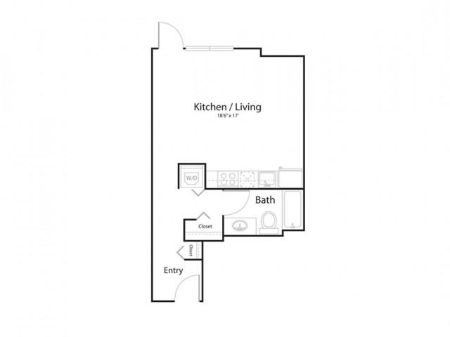 0e1 | Studio1 bath | from 514 square feet
