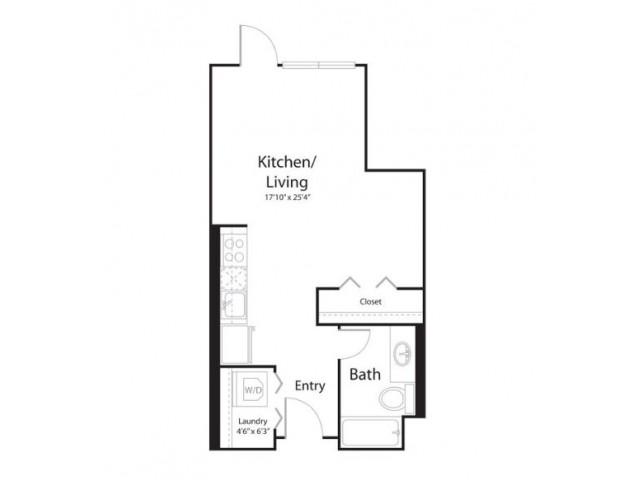 0g1 | Studio1 bath | from 550 square feet