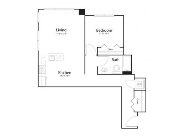 141 | 1 bed 1 bath | from 776 square feet
