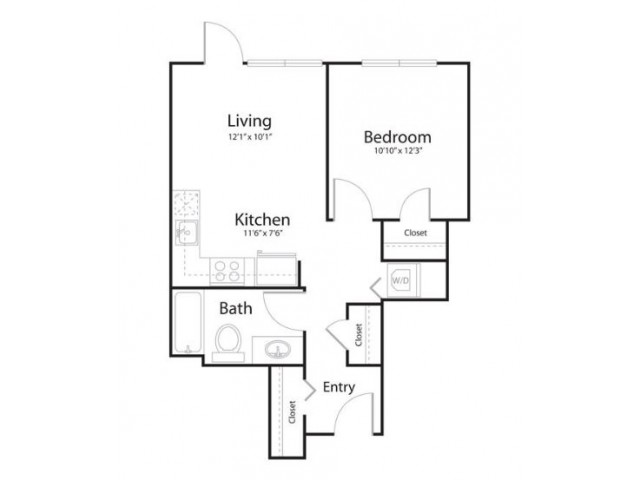 1a1 | 1 bed 1 bath | from 597 square feet