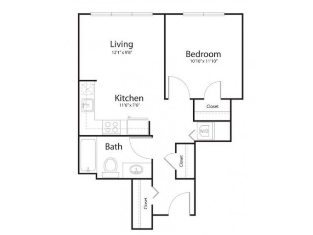 1b1 | 1 bed 1 bath | from 597 square feet