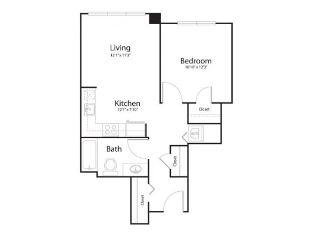1e1 | 1 bed 1 bath | from 622 square feet