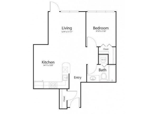 1w1 | 1 bed 1 bath | from 710 square feet