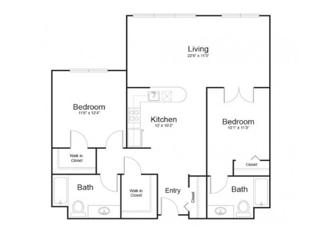 13d | 2 bed 1 bath | from 1036 square feet