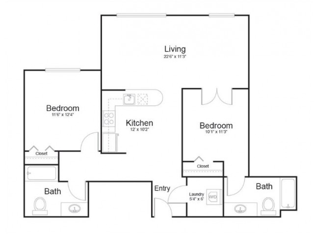 161 | 2 bed 2 bath | from 1024 square feet