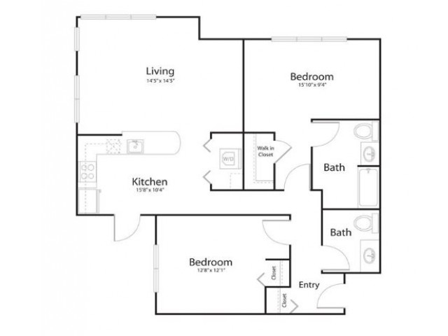2b2 | 2 bed 2 bath | from 965 square feet