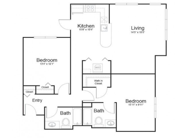 2f2 | 2 bed 2 bath | from 1162 square feet