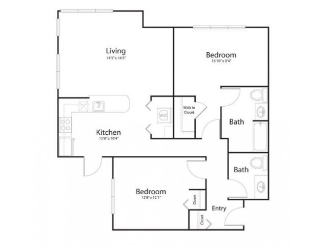2g2 | 2 bed 2 bath | from 1162 square feet