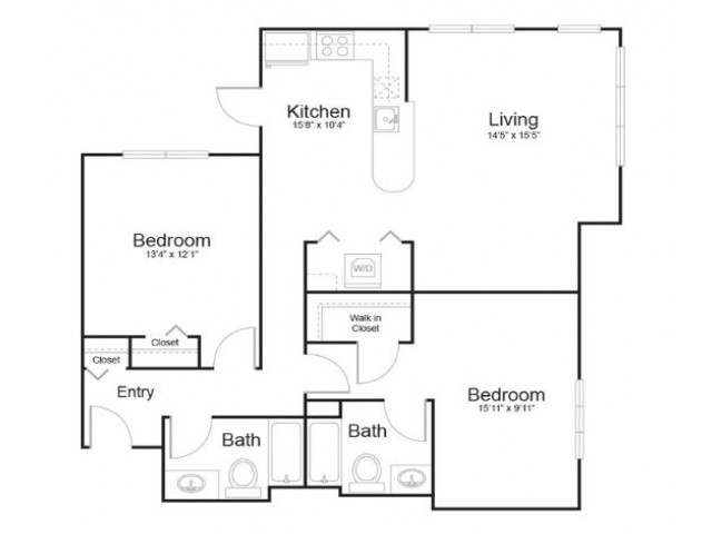 2h2 | 2 bed 2 bath | from 1168 square feet