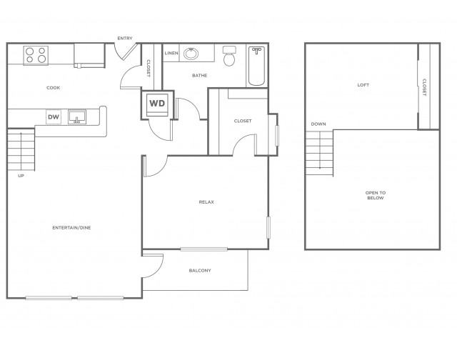 A1L | 1 bed 1 bath | from 937 square feet