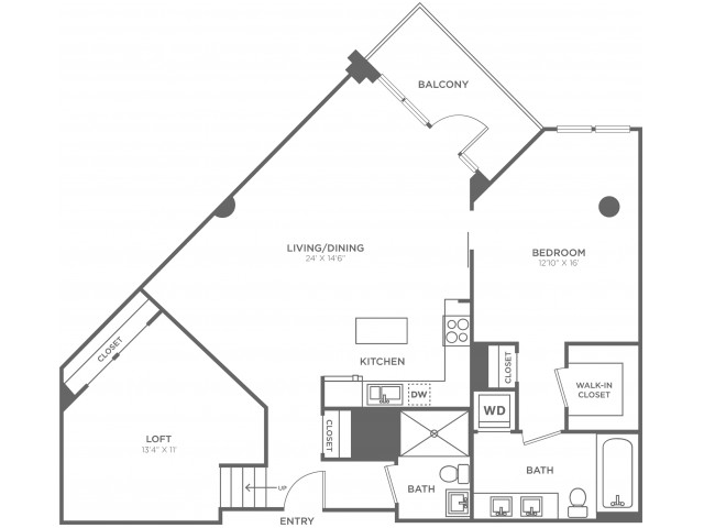 D3   1 bed 2 bath   from 1200 square feet
