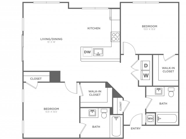 Hawthorn West | 2 bed 2 bath | from 1157 square feet
