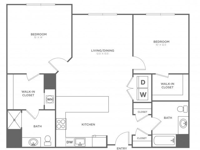 Magnolia East | 2 bed 2 bath | from 1105 square feet