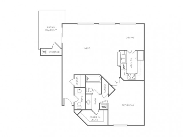 1CR | 1 bed 2 bath | from 850 square feet