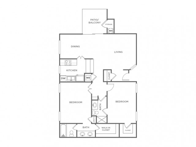 2AR | 2 bed 2 bath | from 997 square feet