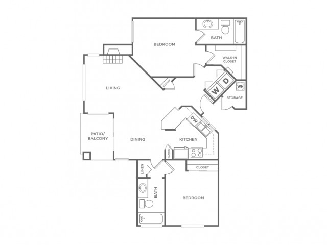 2BR | 2 bed 2 bath | from 1029 square feet