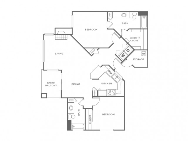 2CR | 2 bed 2 bath | from 1062 square feet