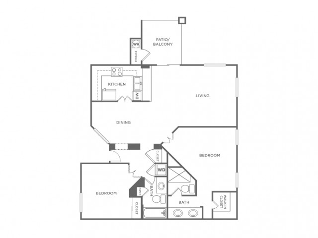 2DR | 2 bed 2 bath | from 1105 square feet