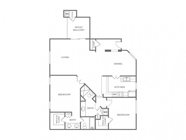 2ER | 2 bed 2 bath | from 1135 square feet