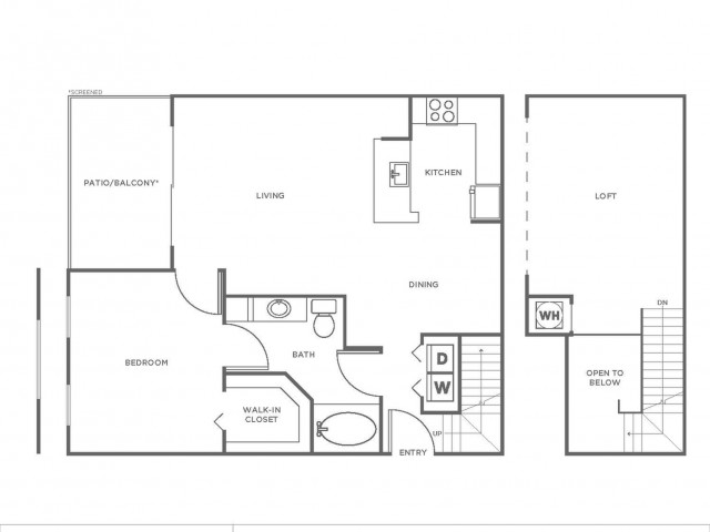A2P | 1 bed 1 bath | from 1046 square feet