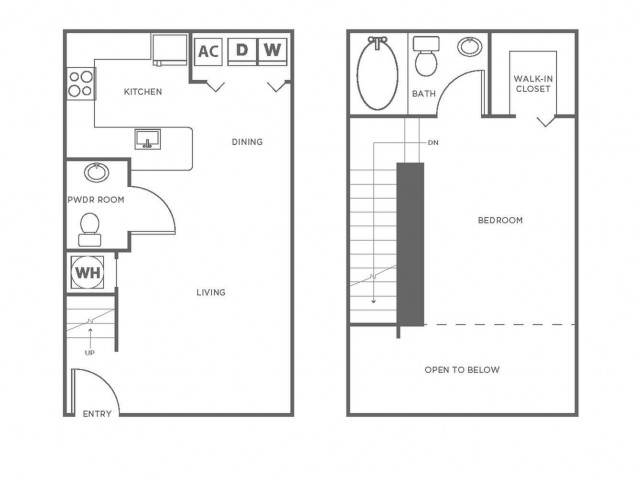 A5P | 1 bed 2 bath | from 839 square feet