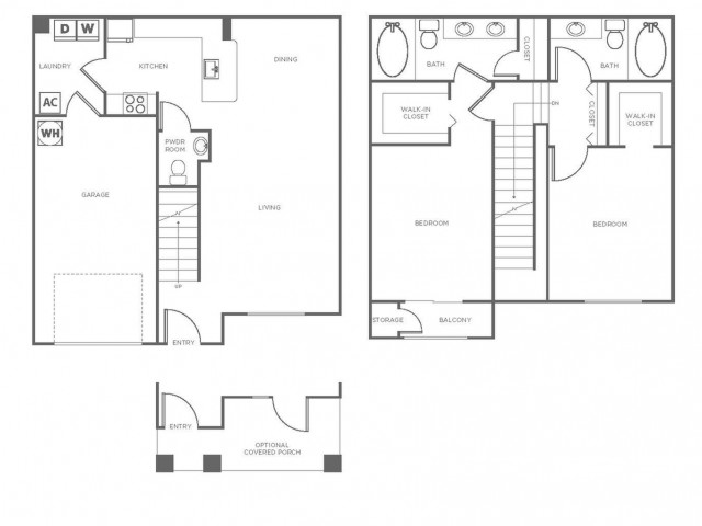 B1P | 2 bed 3 bath | from 1328 square feet