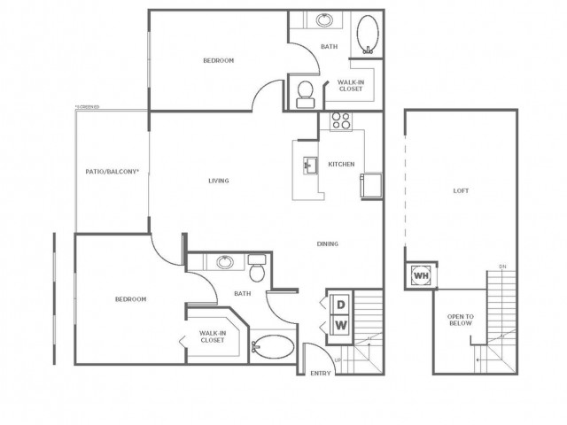 B4P | 2 bed 2 bath | from 1337 square feet