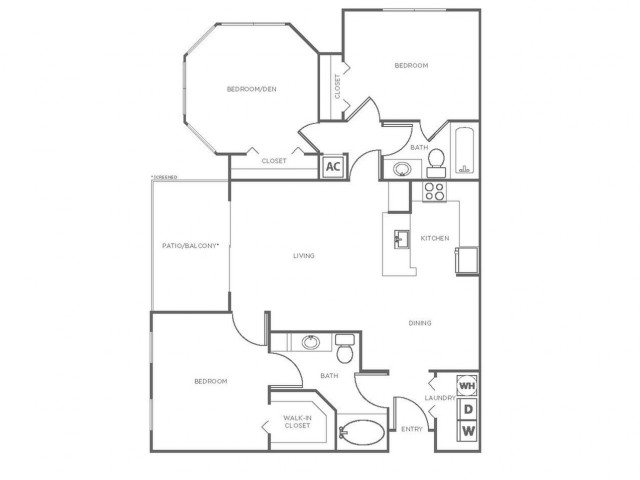 C3GIG | 3 bed 2 bath | from 1261 square feet