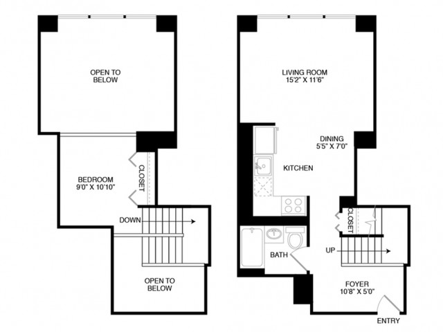 S12 | Studio1 bath | from 691 square feet