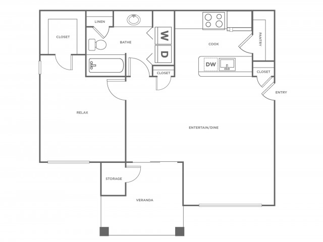 A1R | 1 bed 1 bath | from 780 square feet