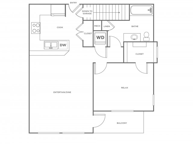 A2R | 1 bed 1 bath | from 797 square feet