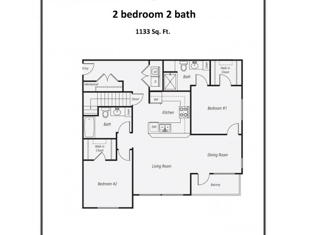 B3 - 1133 | 2 bed 2 bath | from 1133 square feet