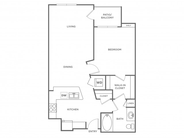 Bronze | 1 bed 1 bath | from 762 square feet