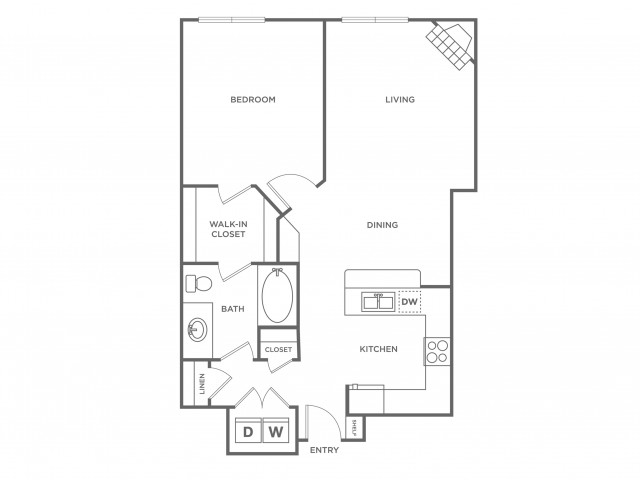 Coral | 1 bed 1 bath | from 775 square feet
