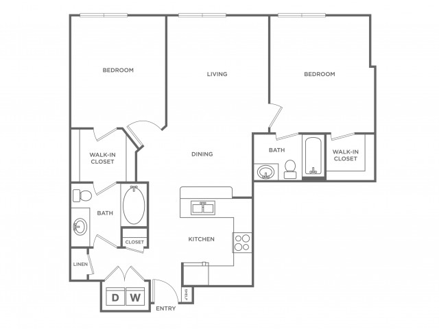 Indigo | 2 bed 2 bath | from 1019 square feet