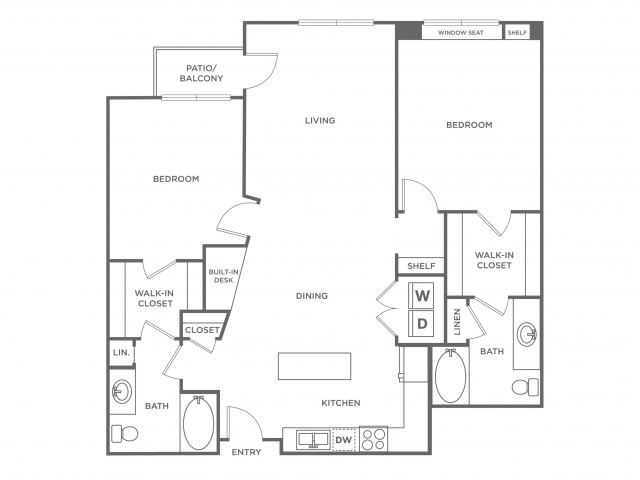 Peach | 2 bed 2 bath | from 1166 square feet