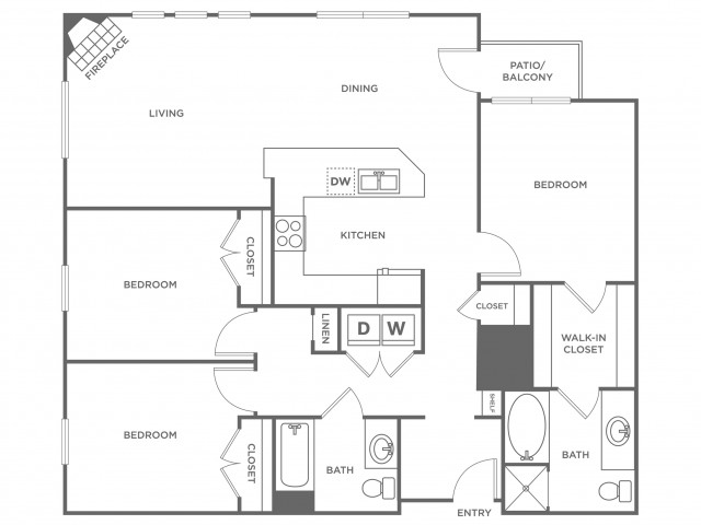 Violet | 3 bed 2 bath | from 1367 square feet