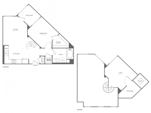 A1M   1 bed 1 bath   from 825 square feet