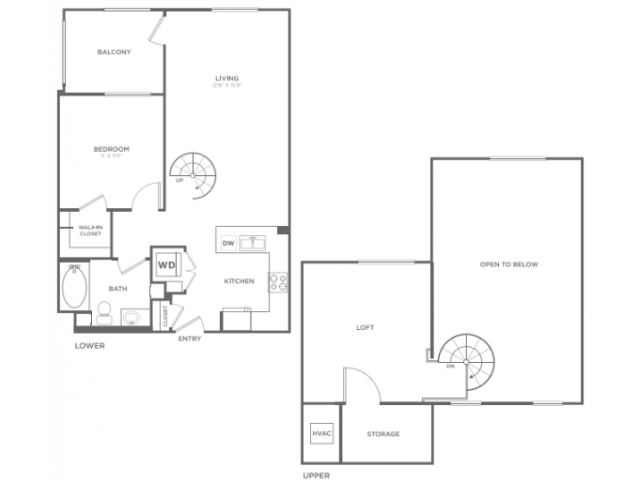 A2M   1 bed 1 bath   from 893 square feet