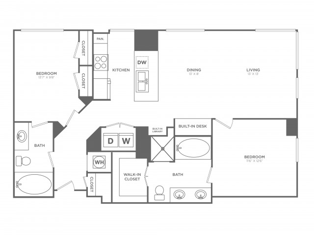 Magnetic | 2 bed 2 bath | from 1197 square feet