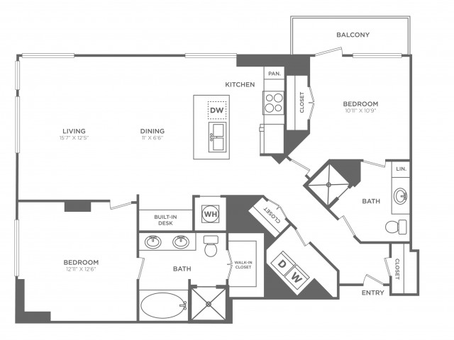 Fabulous | 2 bed 2 bath | from 1283 square feet