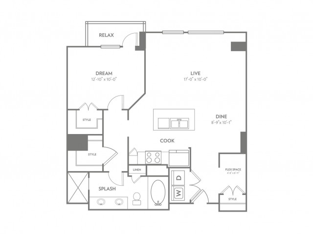 Radiant | 1 bed 1 bath | from 954 square feet