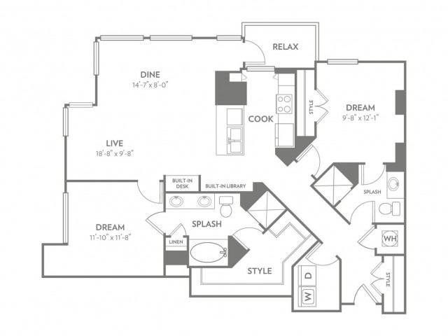 Suave | 2 bed 2 bath | from 1345 square feet