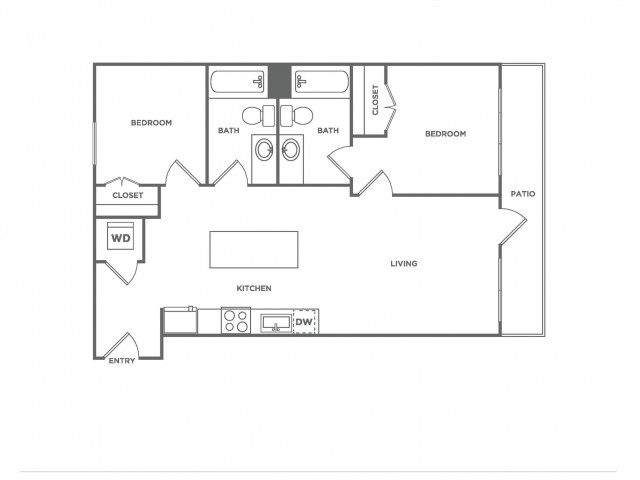 F1.1 | 2 bed 2 bath | from 871 square feet