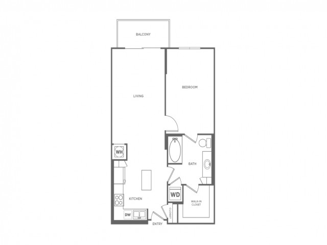 A1B | 1 bed 1 bath | from 791 square feet