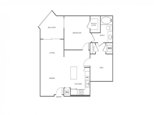 A2 | 1 bed 1 bath | from 984 square feet